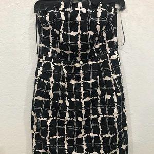 Express black and white tube dress